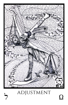 Adjustment Tabula Mundi Tarot black white