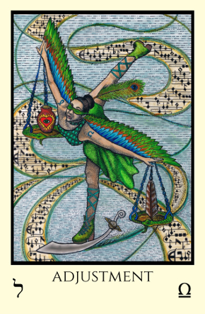 Adjustment Tabula Mundi Tarot color version