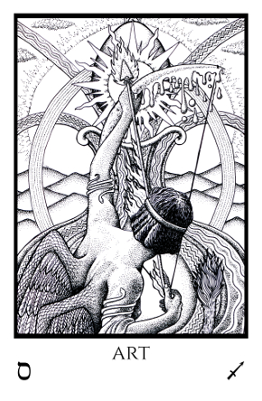 Art Tabula Mundi Tarot black white
