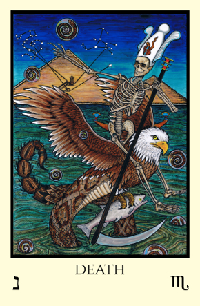 Death Tabula Mundi Tarot color version