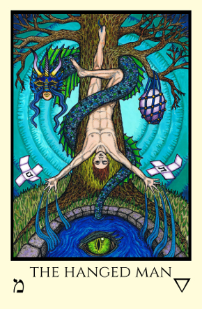 Hanged Man Tabula Mundi Tarot color version