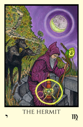 Hermit Tabula Mundi Tarot color version