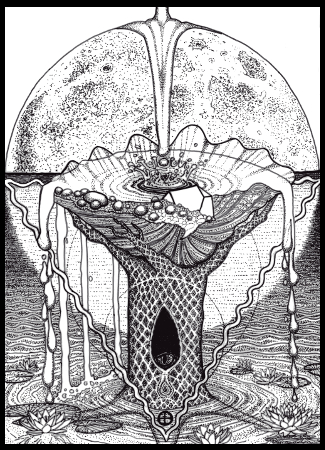 New Ace of Cups BW