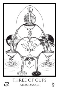 bordered BW 3 of Cups