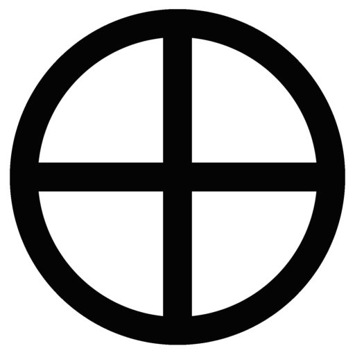 The Quartered Circle Aka Circled Cross And How It Means Just About