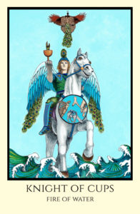 bordered color Knight of Cups