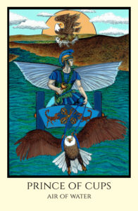 bordered color Prince of Cups