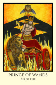bordered color Prince of Wands