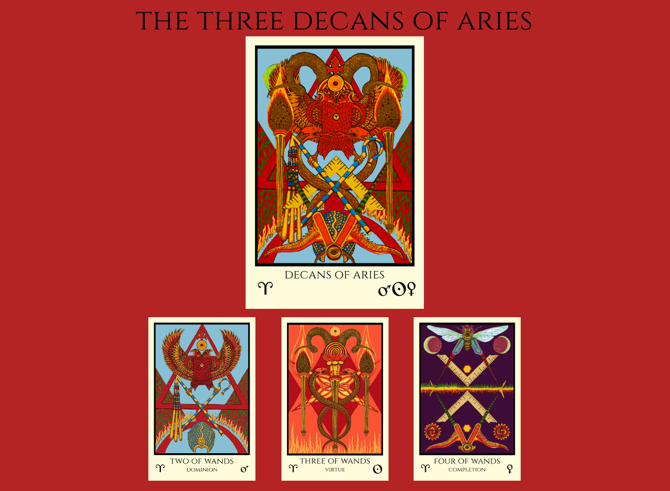 The three decans of Aries