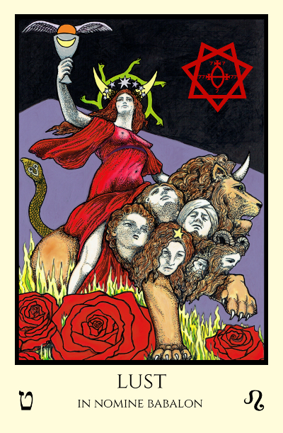 bordered Lust Babalon edition with sigil